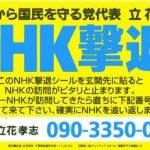 「NHKから国民を守る党」ってどうなん?